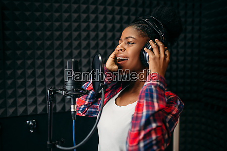 female, singer, songs, in, audio, recording - 28082390