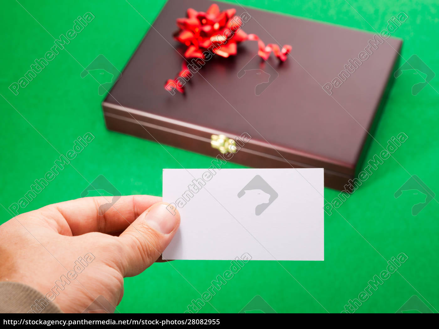gift, box, with, blank, card - 28082955