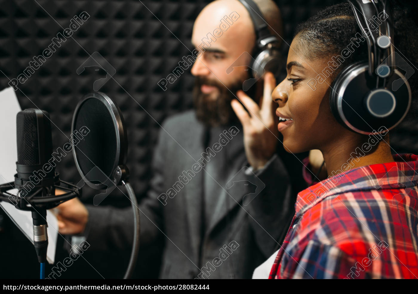 male, and, female, singers, in, audio - 28082444
