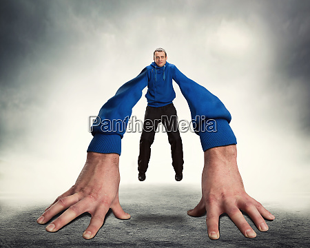 strange man with big hands