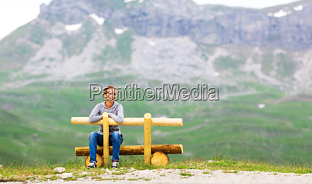 girl, in, mountain, and, green, landscape - 28083737