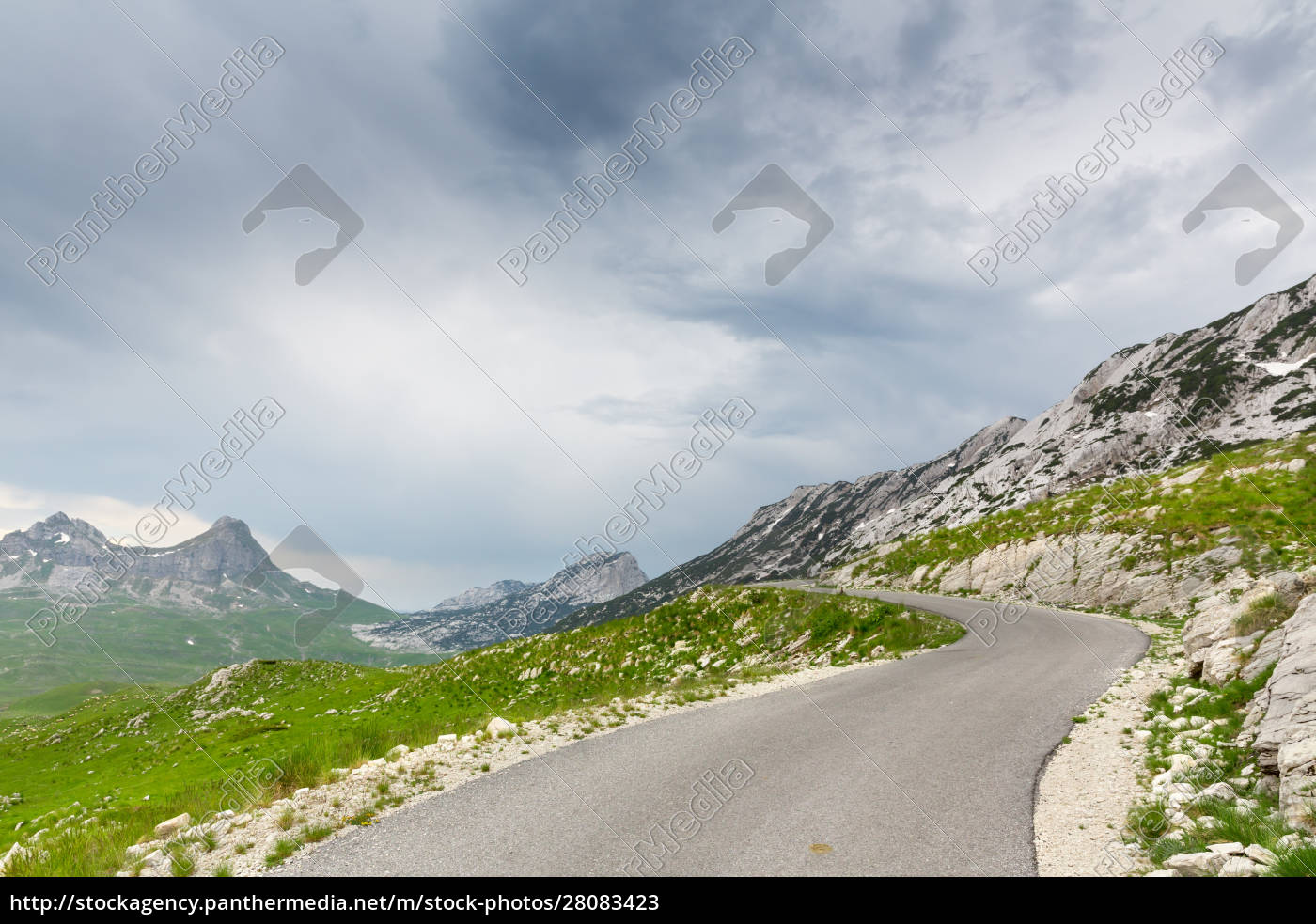 mountain, and, road, landscape, of, montenegro - 28083423