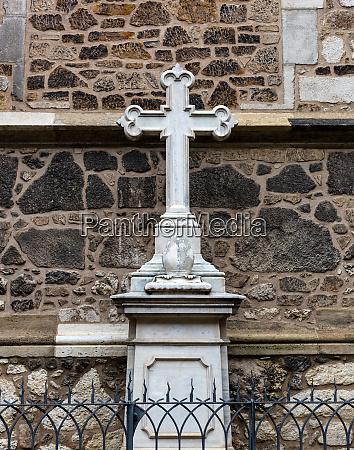 stone cross monument old european town