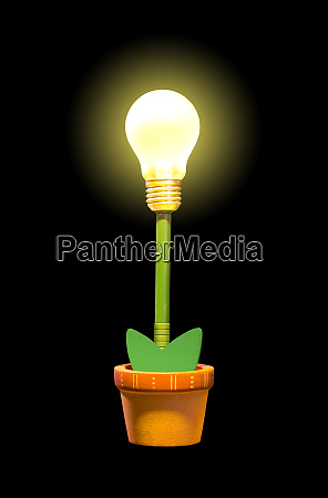 glowing, plant, in, pot - 28084145