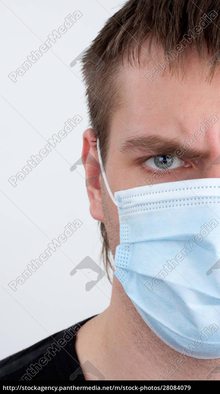 man, in, medical, mask - 28084079