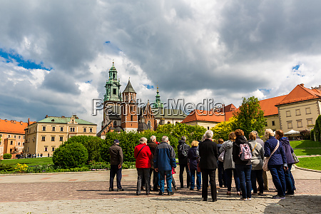 touristic excursion wawel castle krakow poland