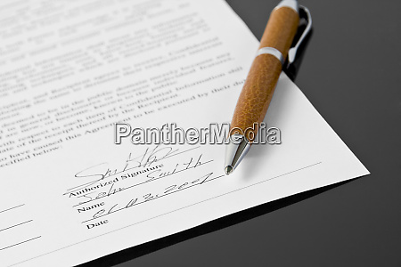 signed contract