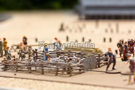 viking settlement miniature outdoor agriculture