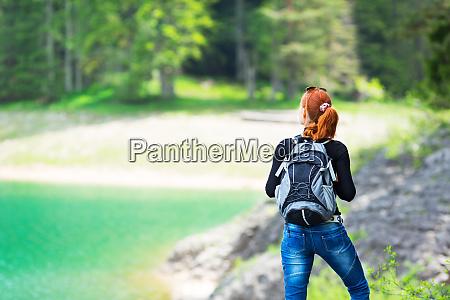 woman is walking outdoor