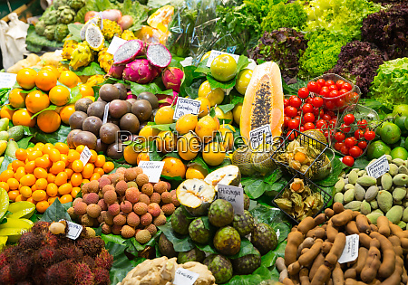 abundance of fruits and vegetables