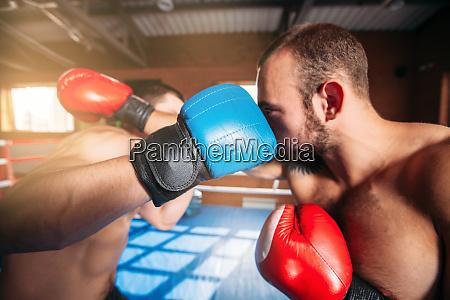 boxers strike blows