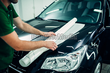 paint protection film installation hood protect