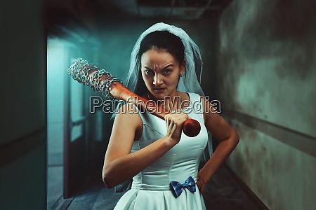 bride maniac with baseball bat
