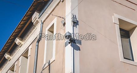cctv surveillance camera on a stone