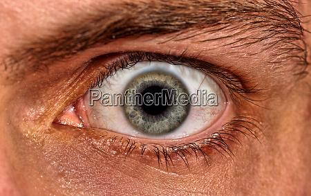 shot of scared man eye