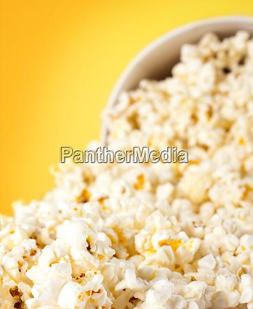 falling popcorn