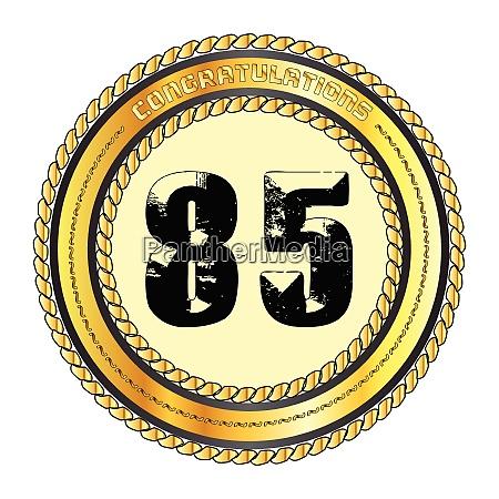 eighty five gold congratulations border