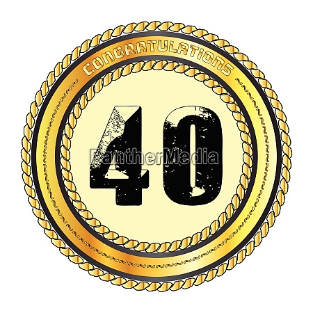 forty gold congratulations border