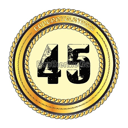 forty five gold congratulations border