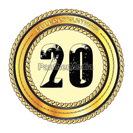 twenty gold congratulations border