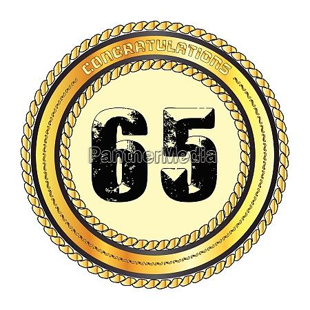 sixty five gold congratulations border
