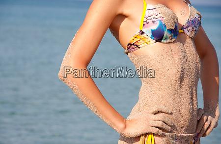 heat sea sand and bikini woman