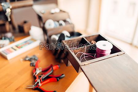 needlework hobby handicraft tools closeup