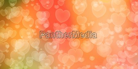 romantic heart shaped bokeh background