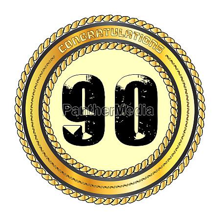 ninety gold congratulations border