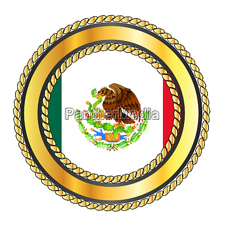 mexico rope bound and isolated flag