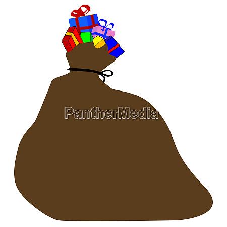 santa clause christmas sack of toys