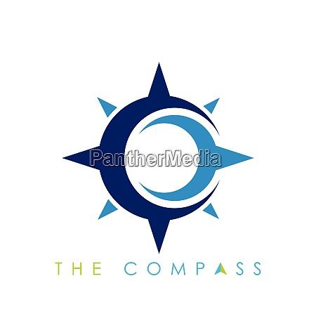 compass logo vector icon modern navigation