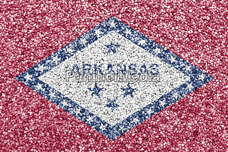 flag of arkansas on poppy seeds