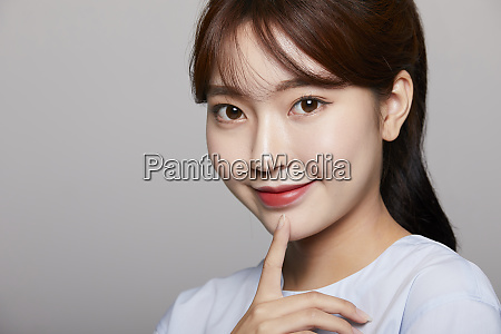 woman beauty image color back