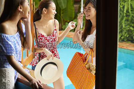 female resort travel