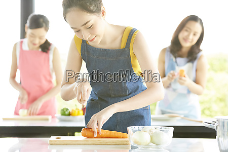 female cooking class
