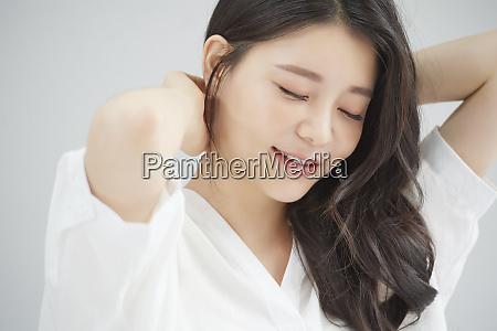 woman beauty morning