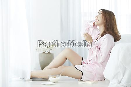 woman lifestyle pajamas