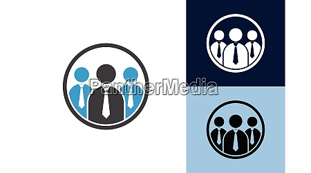 connect people logo template social media