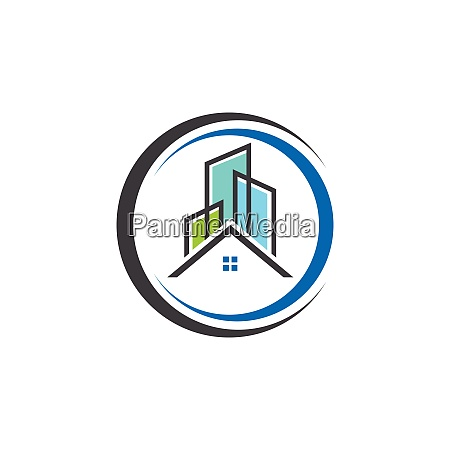 real estate vector logo template building