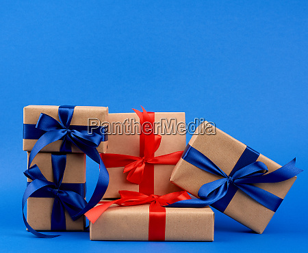 rectangle box wrapped in brown kraft