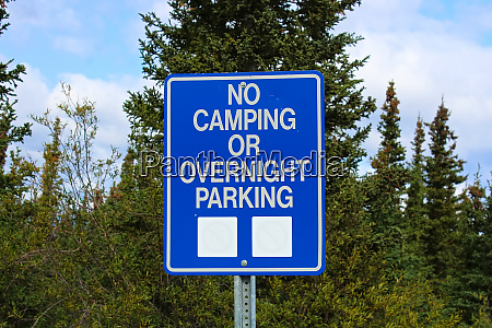 a no camping or overnight parking
