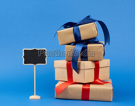 wooden pointer and rectangle box wrapped