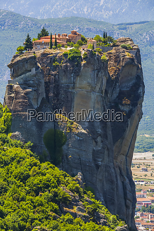 monastery on a rock formation in