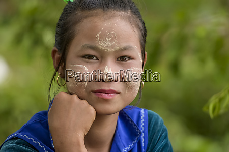 portrait of a beautiful pao girl
