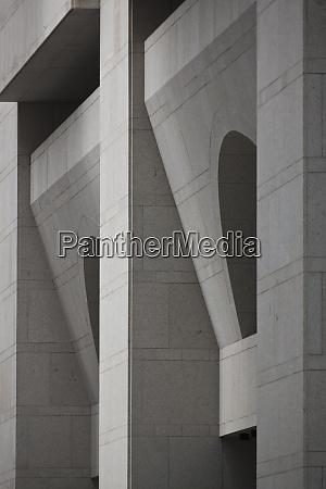 geometric facade of a building