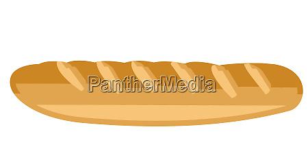 baguette bakery bun crusty bread illustration