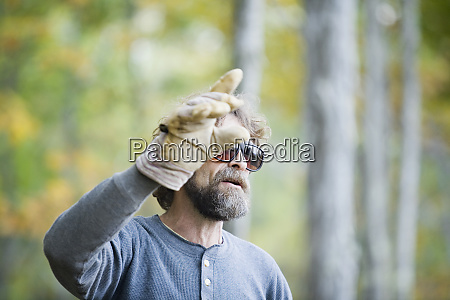 rural businessman gesturing