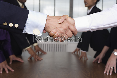 close up of shaking hands