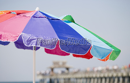 close up of a beach umbrella